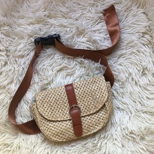 Straw belt bag/ purse